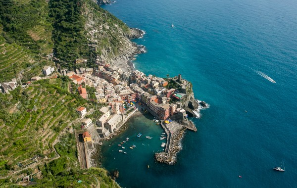 The coastline of Italy