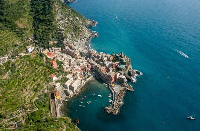 The coastline of Italy