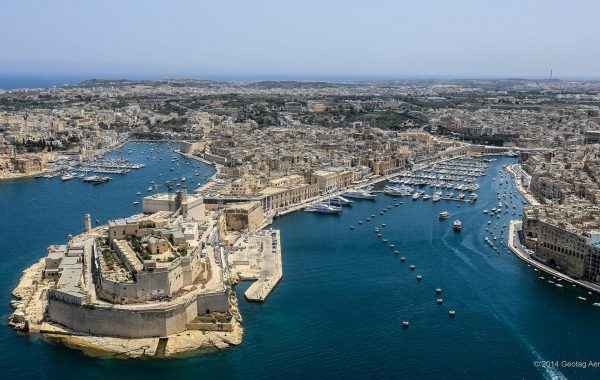 The coastline of Malta