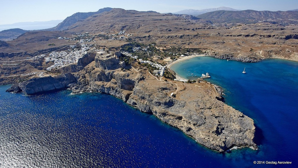 Aerial photo of Saint Paul beach in the island of Rhodos by Tripinview