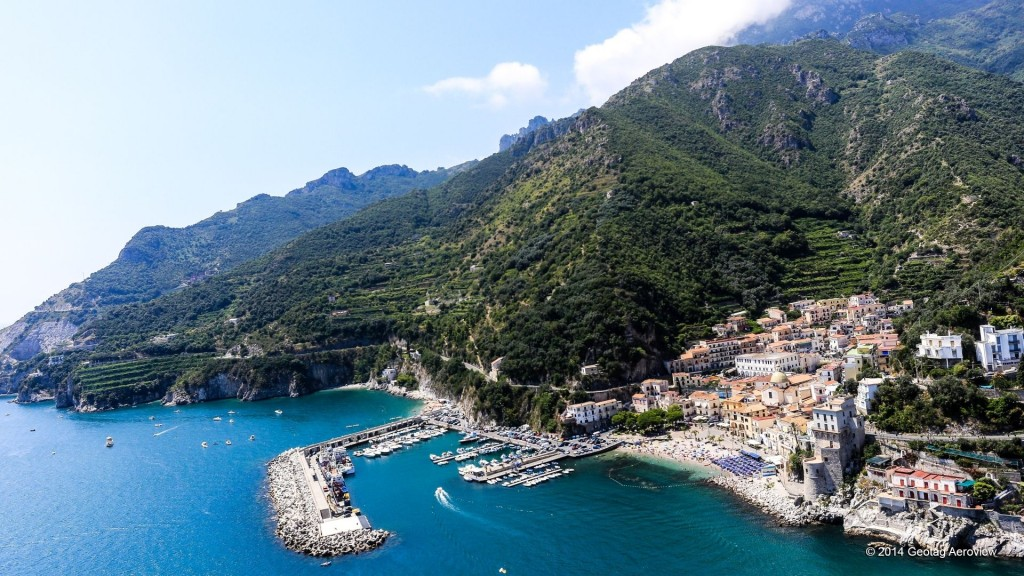 Aerial photo of Cetara in Amalfi coast by Tripinview