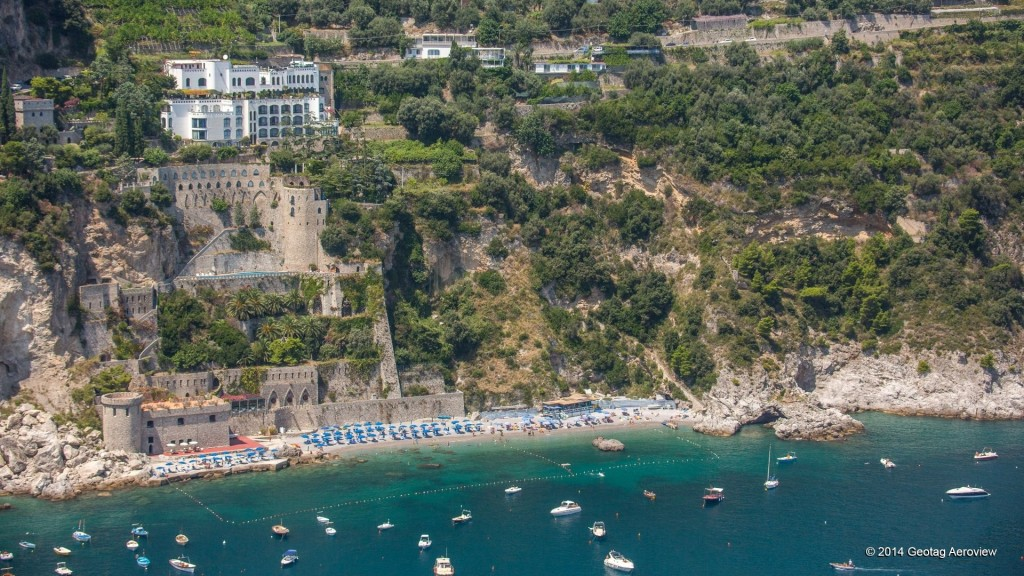 Aerial photo of Conca dei Marini in Amalfi coast by Tripinview