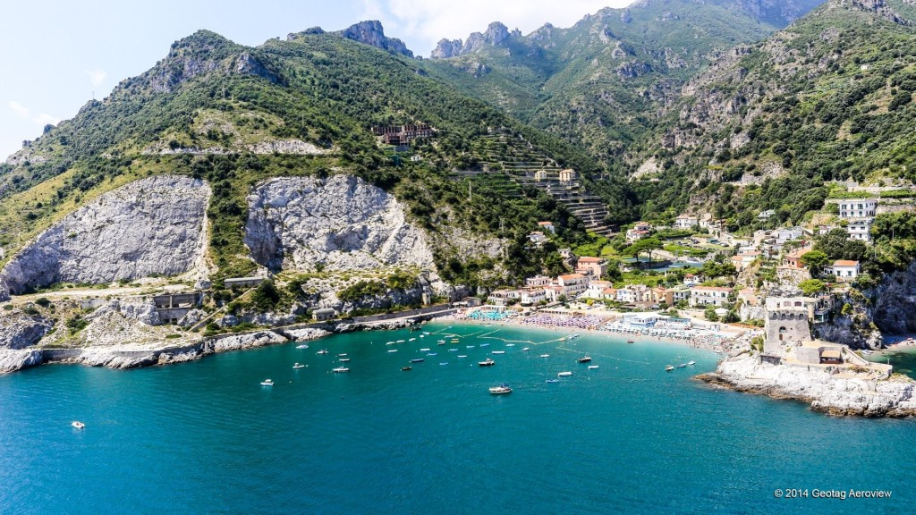 Aerial photo of Erchie in Amalfi coast by Tripinview