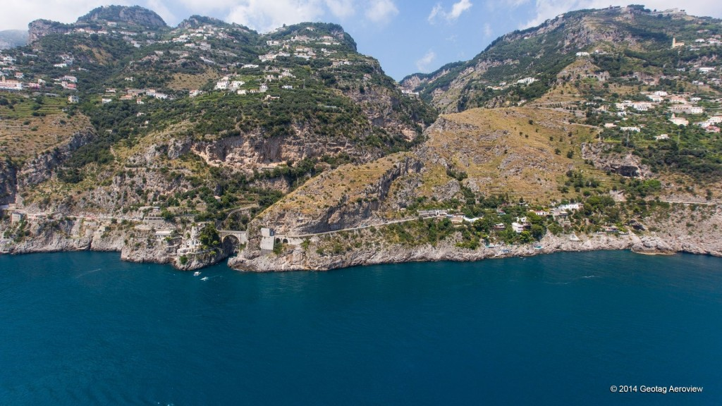 Aerial photo of Furore in Amalfi coast by Tripinview