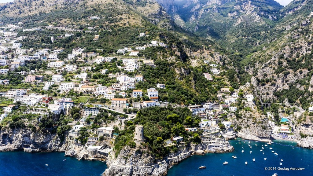 Aerial photo of Praiano in Amalfi coast by Tripinview