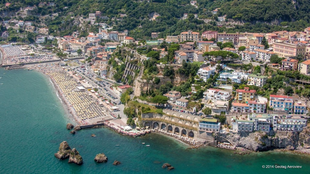 Aerial photo of Vietri sul mare in Amalfi coast by Tripinview