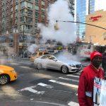 Steaming streets in N.Y.