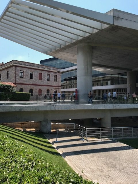 Photo of the imposing entrance of the Acropolis Museum at Athens Greeve