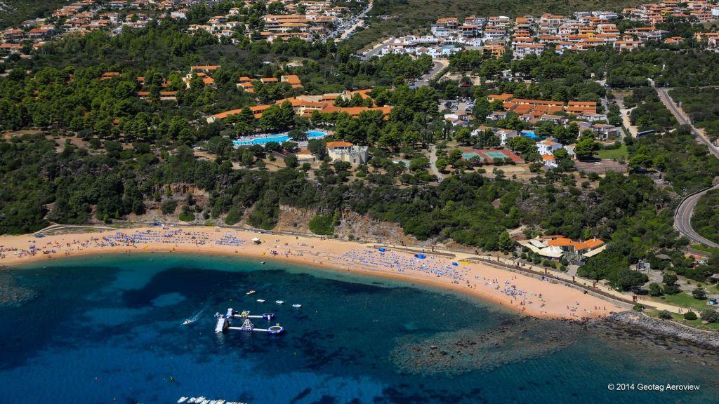 Famous beach in Sardinia Island, Italy