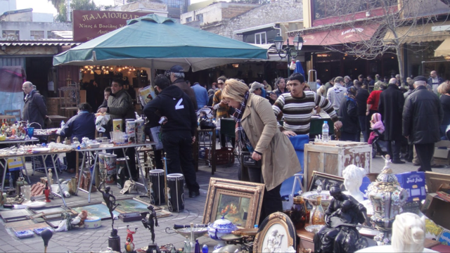 A typical flea market in Monastiraki - Athens - greece