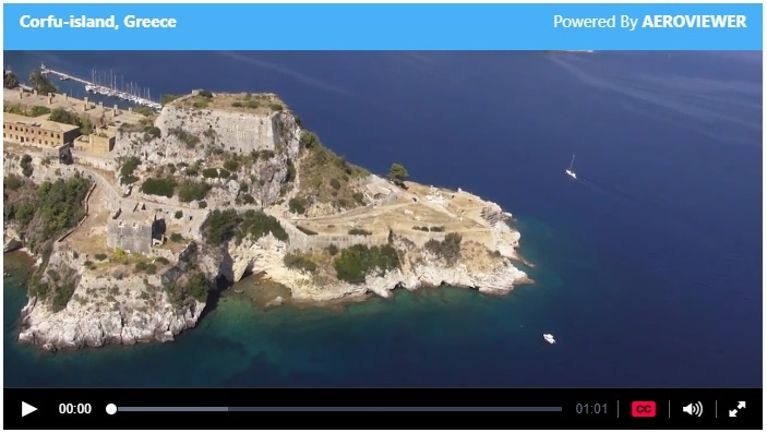 Aerial video of Corfu island, Greece