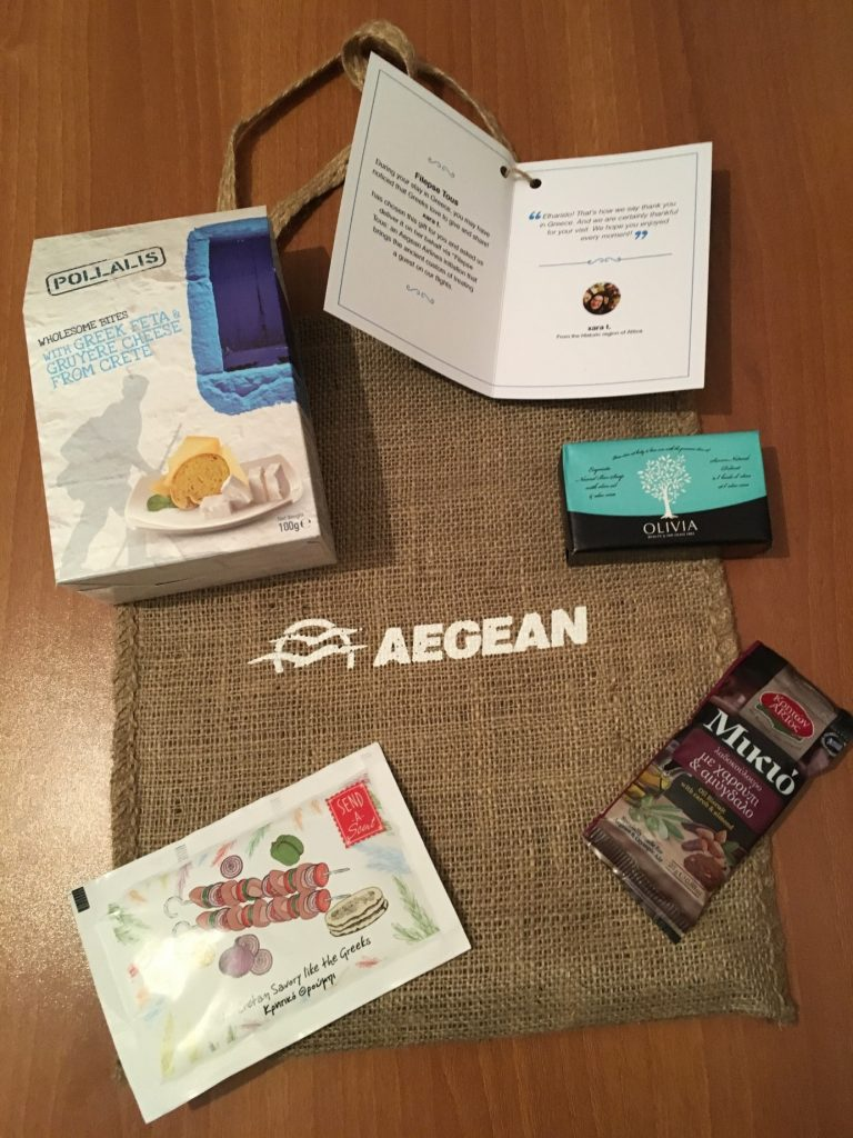 Aegean Airlines traveler gifts