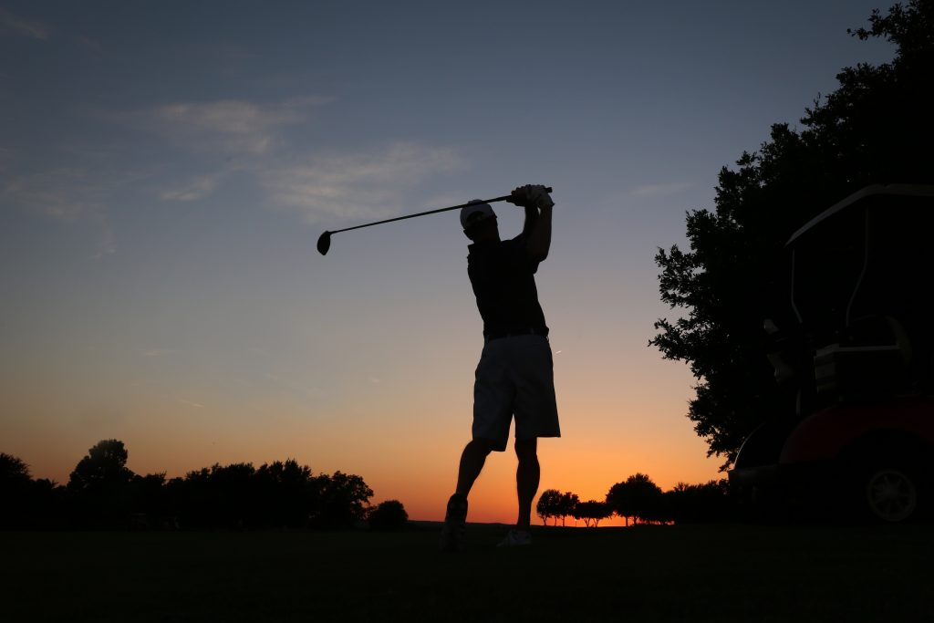 Golfer at the sunset - Teravista Golf