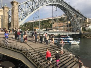 Famous Porto bridge on Douro river