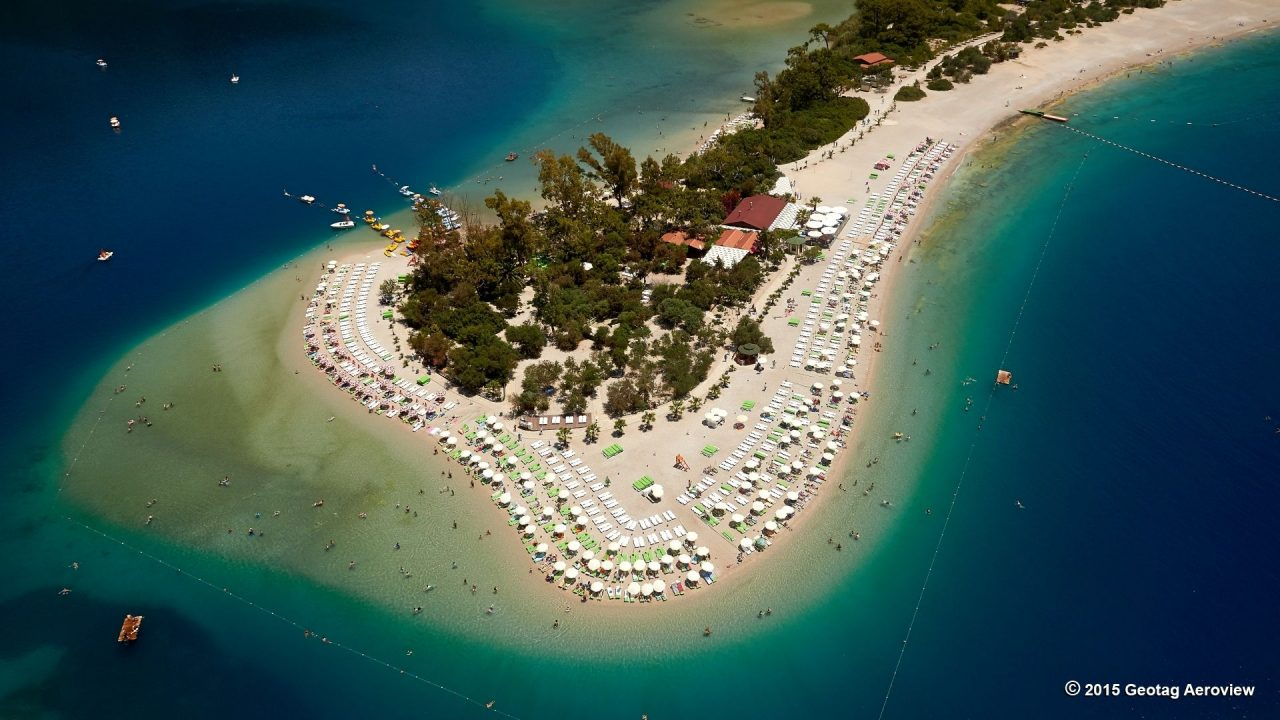 Oludeniz beach. Famus and luxurious